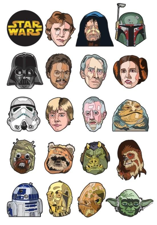 Imágenes personajes de Star Wars