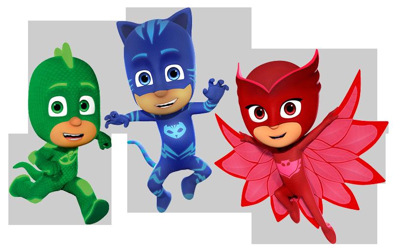 Pj Masks Héroes En Pijamas Imágenes Personajes Imágenes