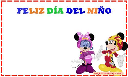 Feliz Dia del nino minnie y mickey - marcos feliz dia del nino