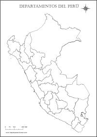 Mapa del Per: Poltico, Regiones, Departamentos, Relieve ...