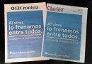 Los diarios unieron sus tapas en una campaña de prevención