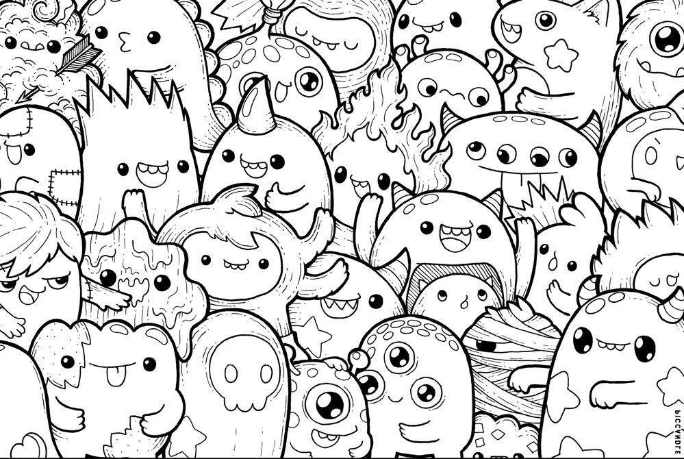 Dibujos Kawaii Para Colorear E Imprimir - Novocom.top