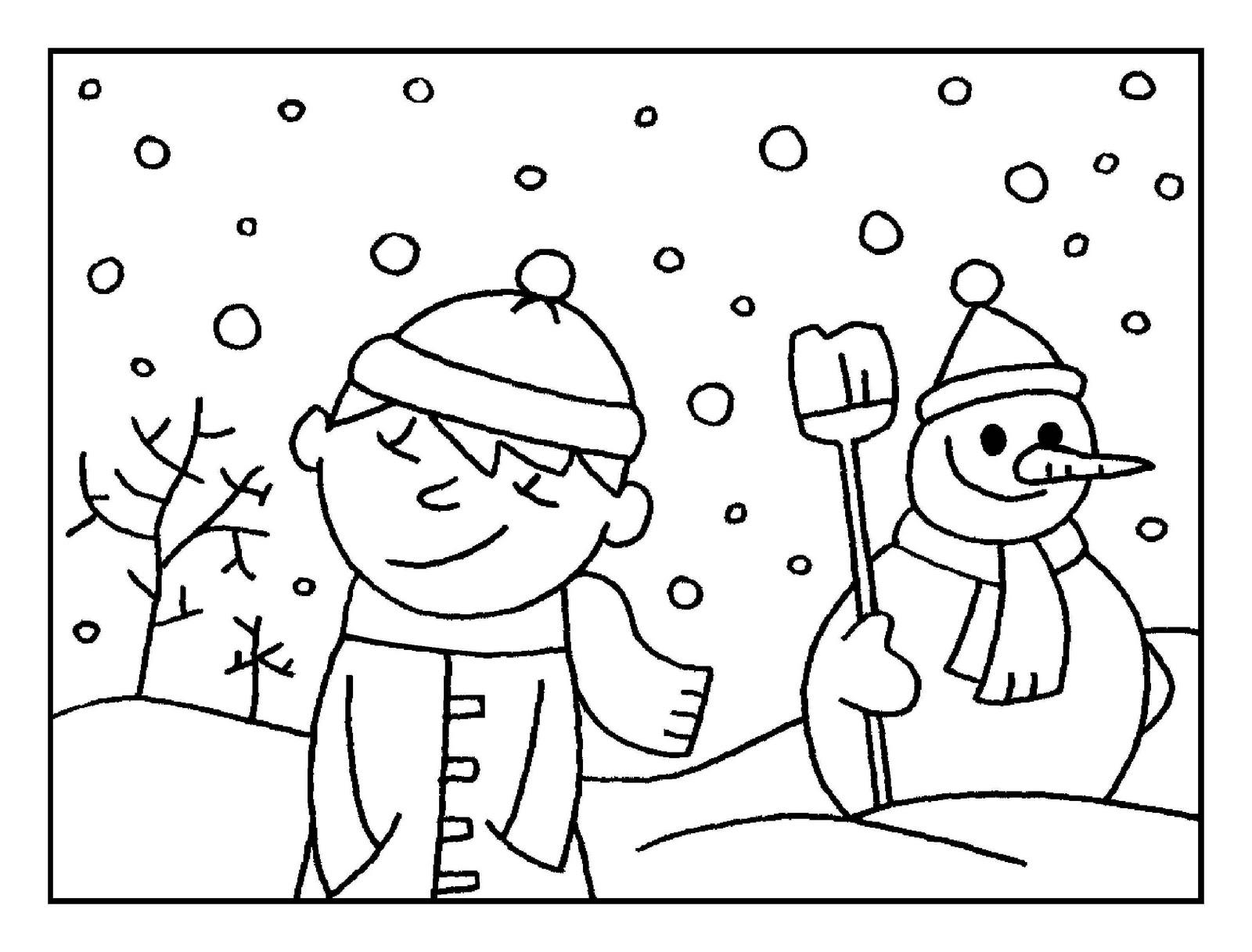 Imágenes con paisajes de invierno para colorear