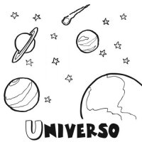 Nombre de los planetas para colorear