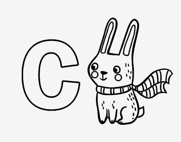 Imprimir Letra C Para Recortar Colorear