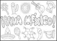 Imagenes Para Colorear De Mexico Dibujos Para Colorear