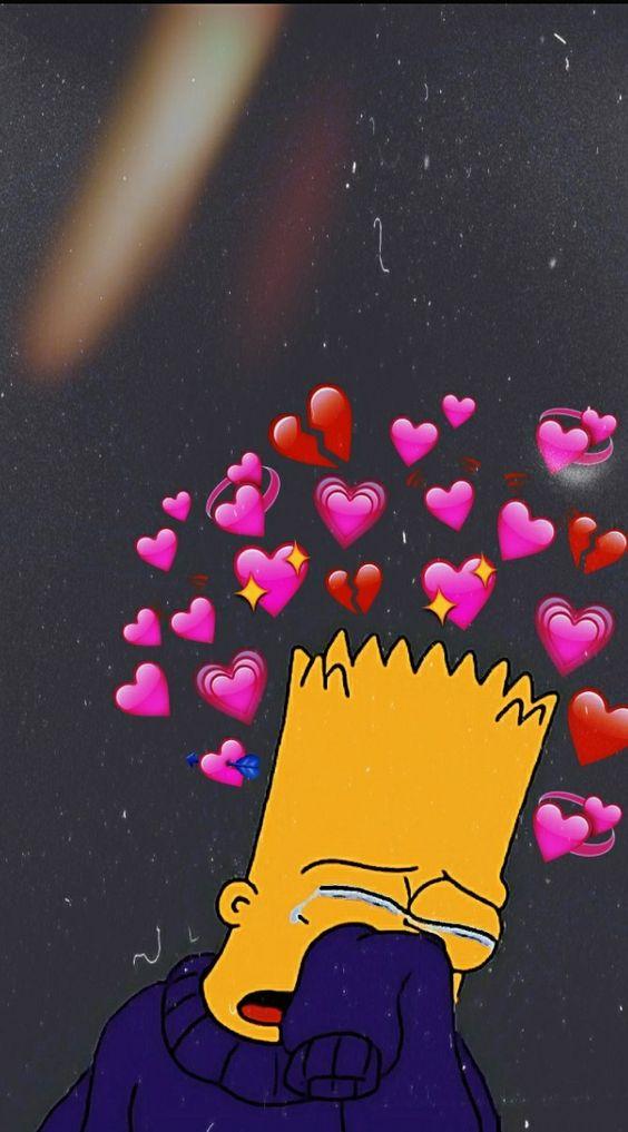 Cute But Sad Wallpaper Fondo De Pantalla Bart Simpson