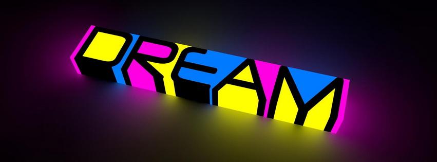 Dream Color Neon Facebook Cover