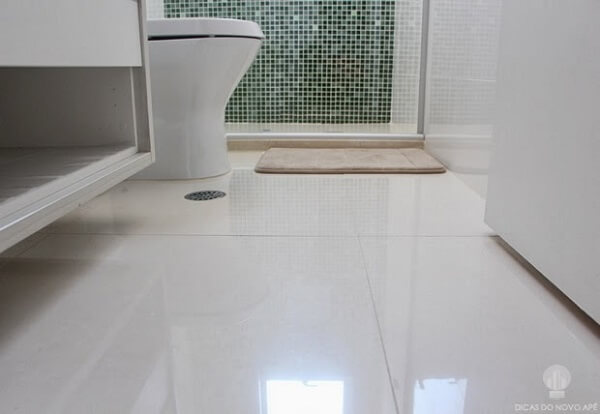 Piso para banheiro porcelanato esmaltado