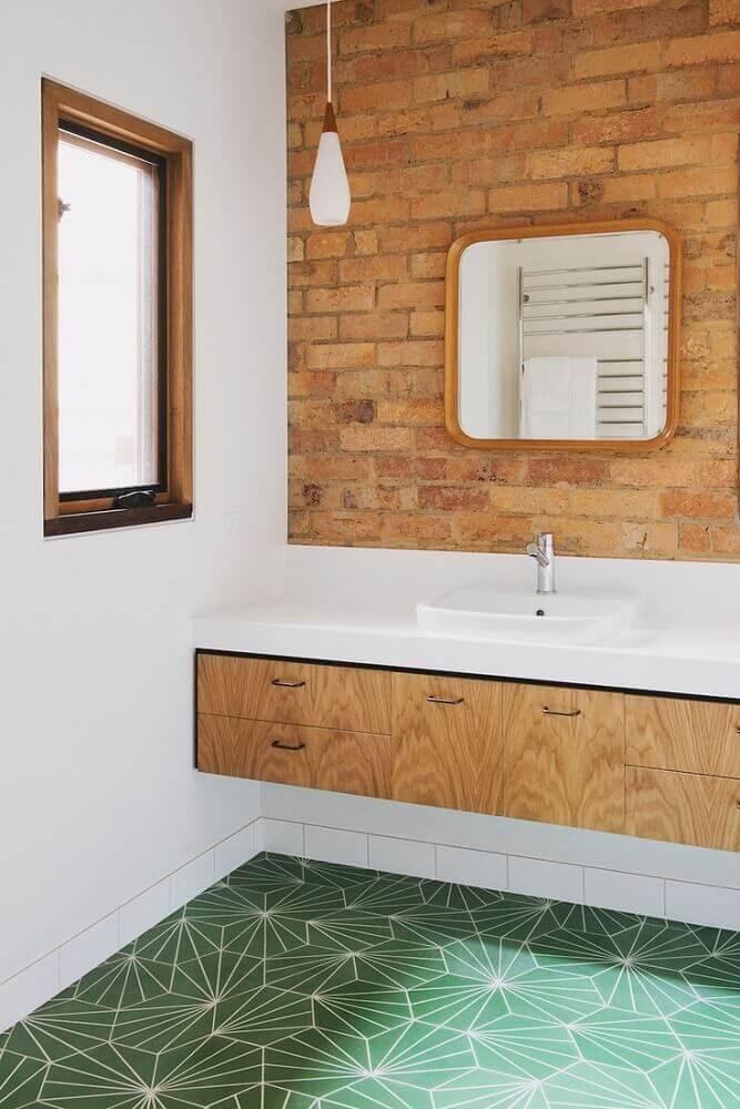 pisos verdes para banheiro