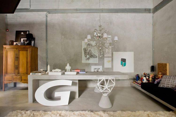 10012- Sala de estar com piso de cimento queimado -guilherme-torres-viva-decora