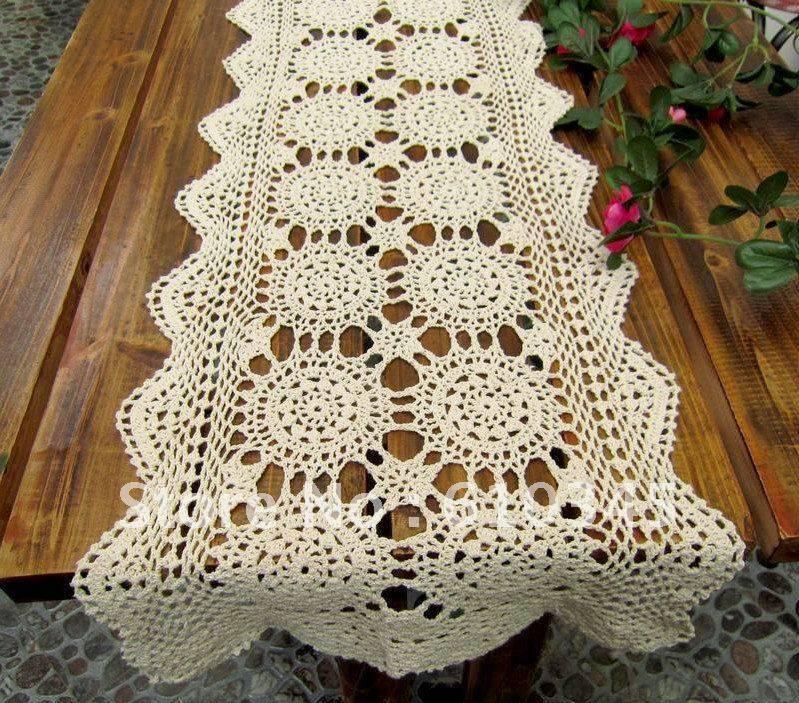 caminho de mesa de croche rentangulo