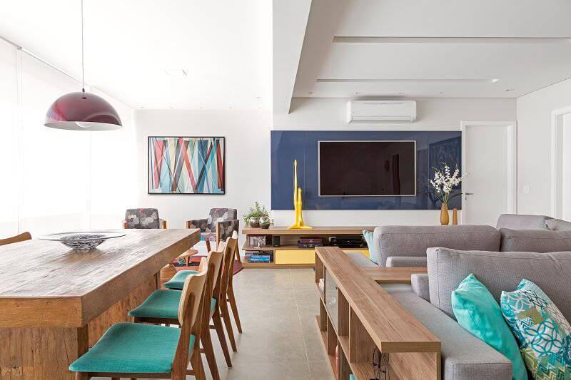 apartamento colorido decorado sala geral