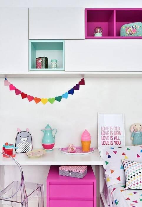 escrivaninha quarto de menina colorido sabrina souza 135616