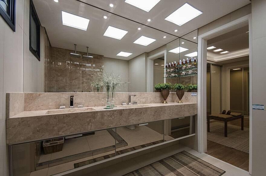 marmore bancada de banheiro espelhado marel 121471