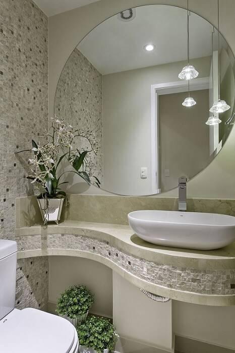 marmore banheiro pia com bancada iara kilaris 136854