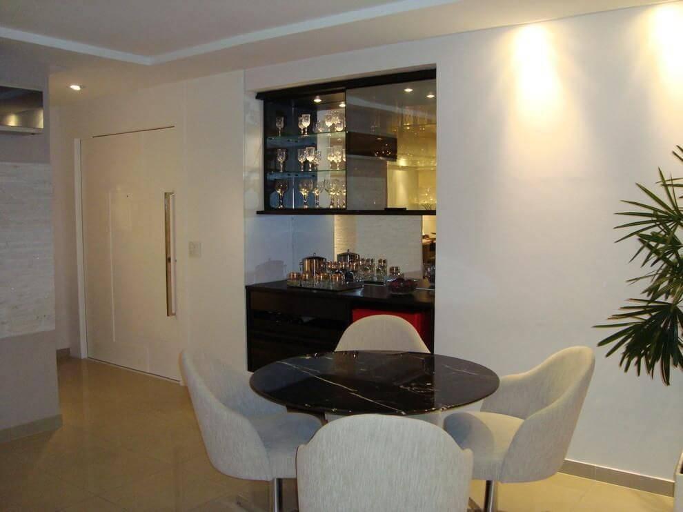 marmore sala de jantar tampo preto carolineguerra 102764