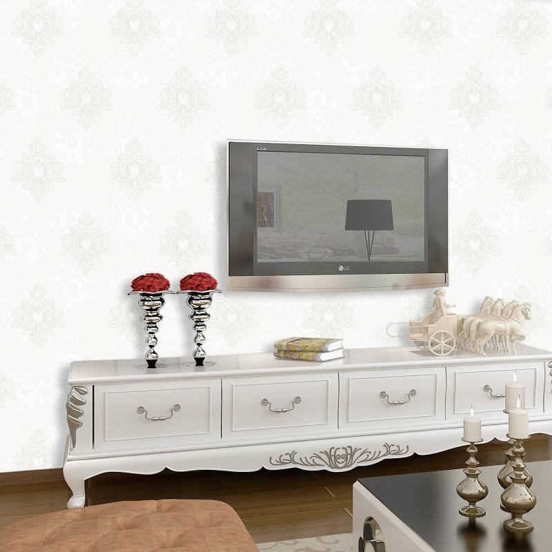 Papel de parede Leroy vinilico_floral_branco_rolo_com_9,5m