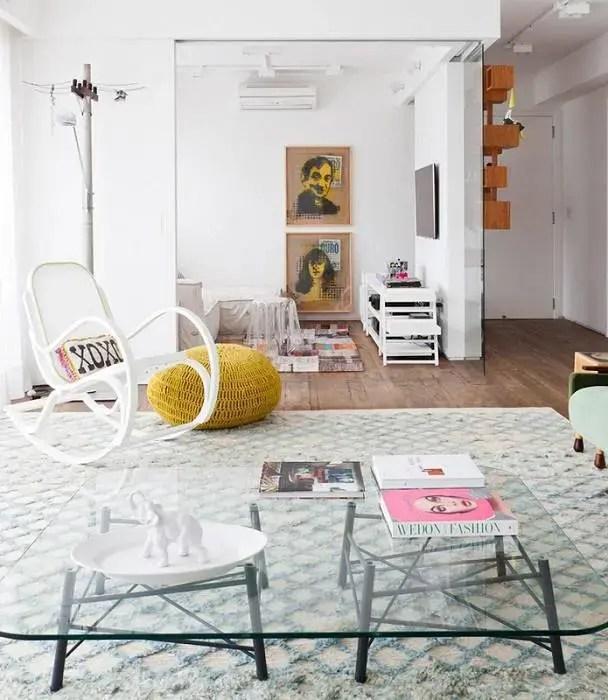 cadeiras sala de estar de balanço flavia gerab tayar 22707