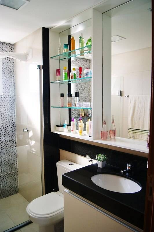 espelho para banheiro com prateleira priscila fernandes 52083