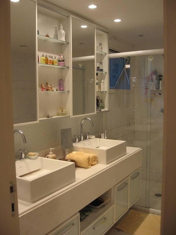 espelho para banheiro espelheira dupla escala design 42076