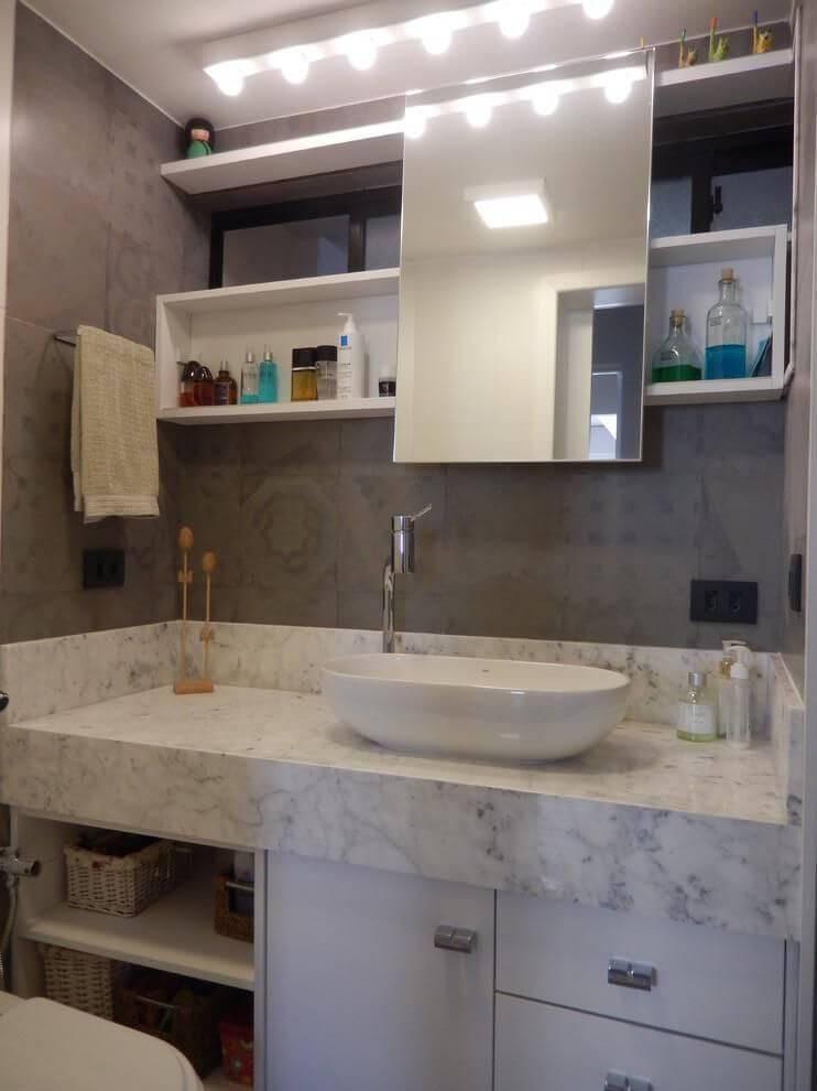 espelho para banheiro retangular com prateleiras juliana lahoz 79167