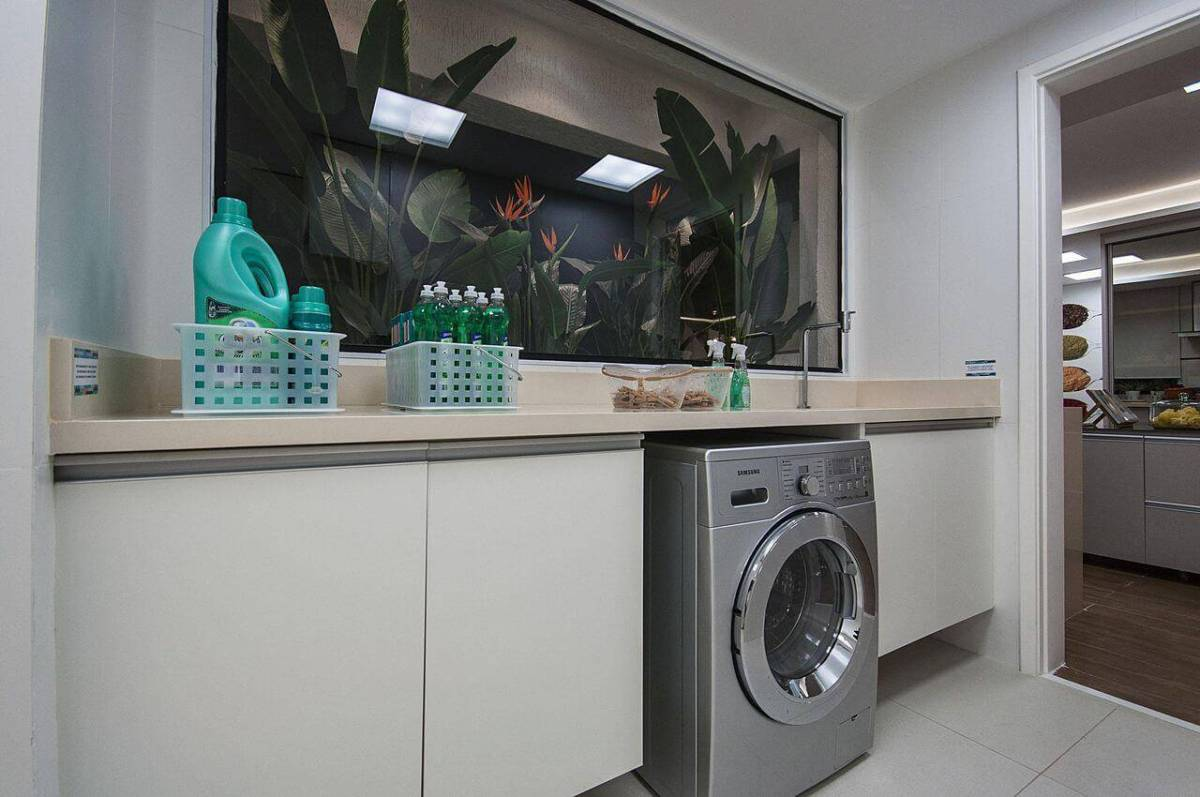 caixa organizadora lavanderia produtos marel 121757