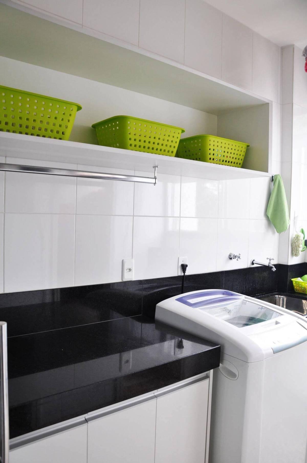 caixa organizadora lavanderia verde isabela basques 30265