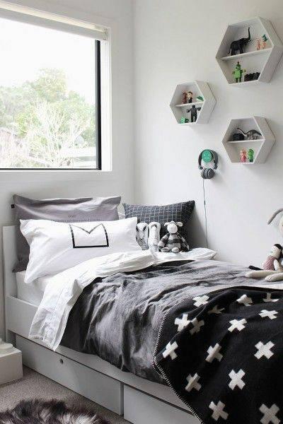 quartos decorados pinterest cinza com nichos
