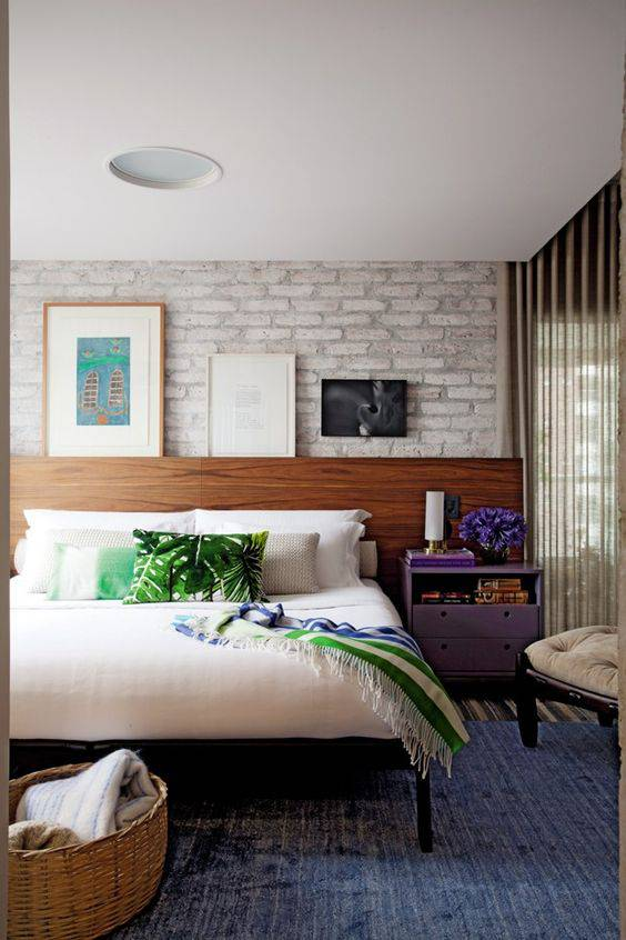 quartos decorados pinterest tijolinho
