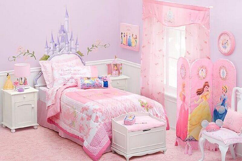 decoração quarto das princesas disney