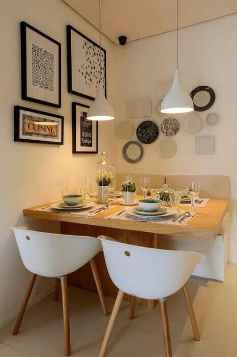Sala de Jantar Pequena 38 Dicas e Modelos de Decorao