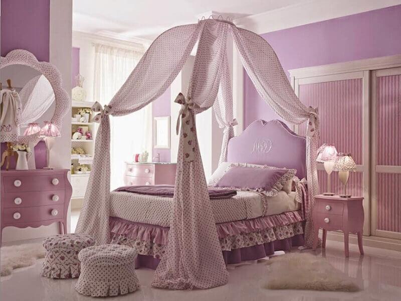 quarto de princesa em tom lilás