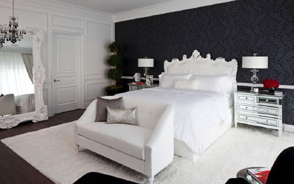 papel de parede para quarto preto