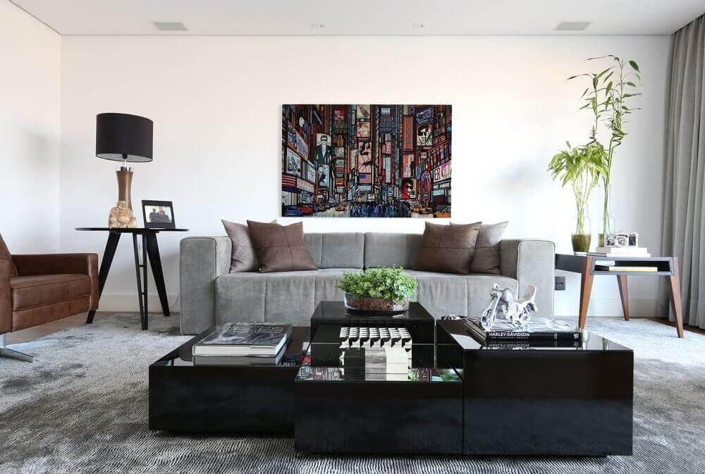 14 salas de estar com sof cinza salas t Decorao
