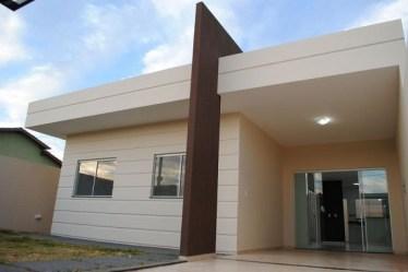 Casas Simples Com Telhado Embutido