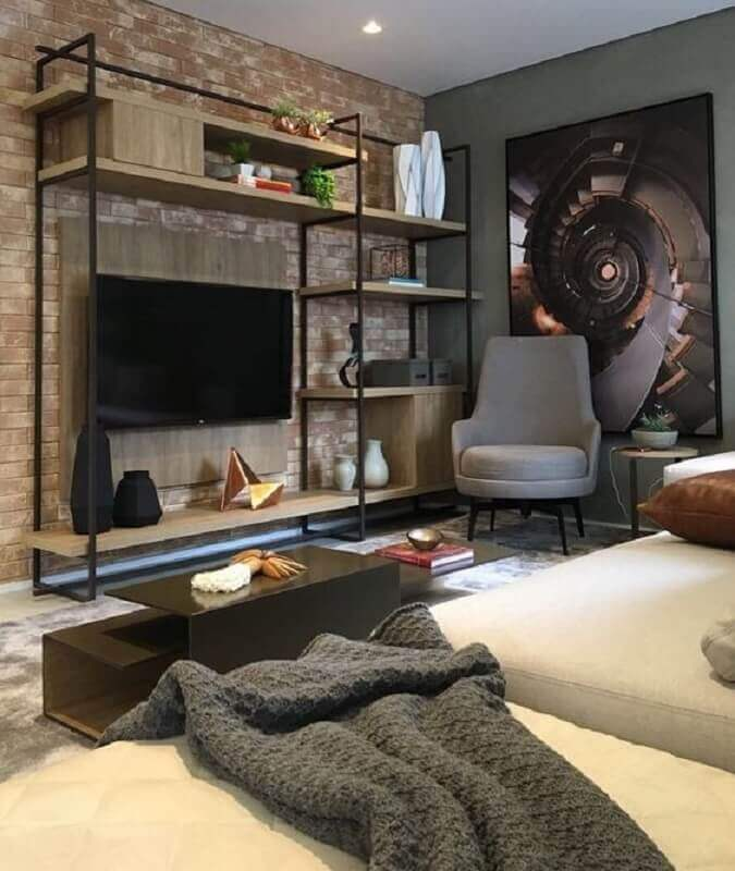 Modern living room with industrial style Photo Pinterest
