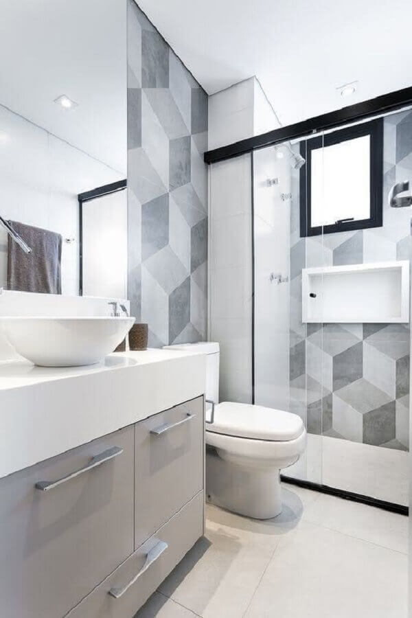 Try to invest in small bathroom cabinets with drawers, as they help in organizing the room