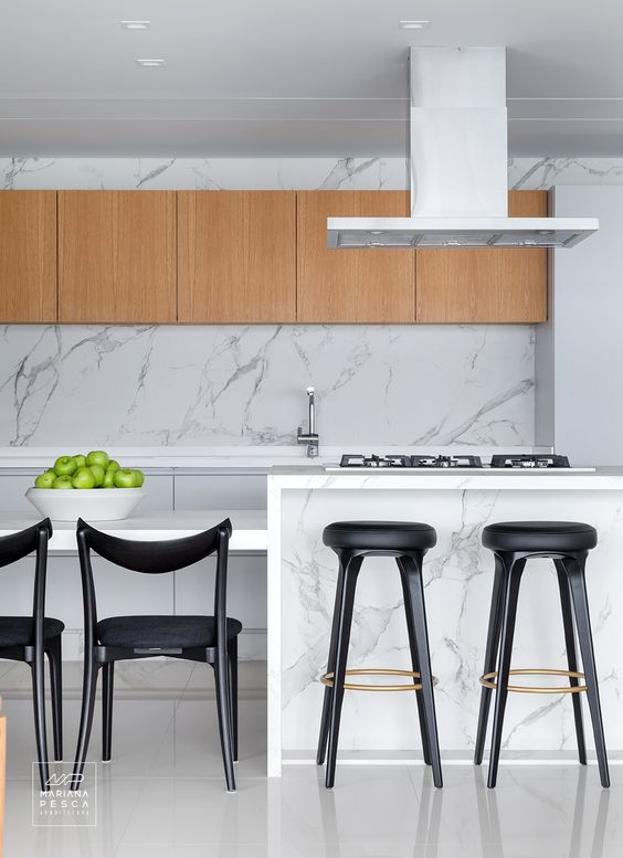 High stools for marble kitchen countertops