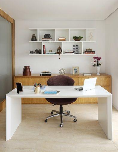 Classic white office desk