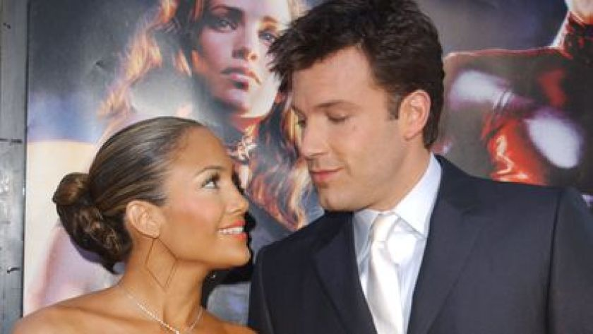 Jennifer Lopez and Ben Affleck at the premiere of 'Daredevil'in Los Angeles in February 2003.