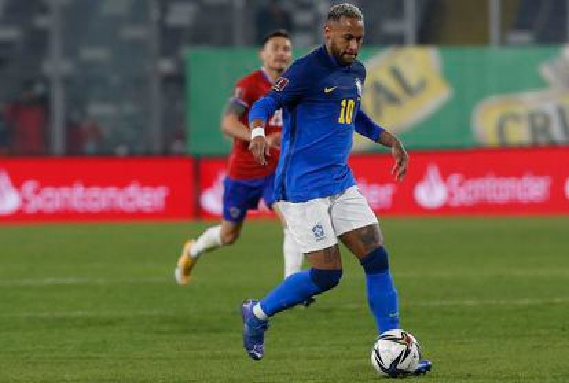 Neymar, in the match between Brazil and Chile.