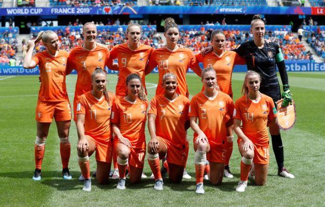 Seleção da Holanda na Copa do Mundo de Futebol Feminino - França 2019.