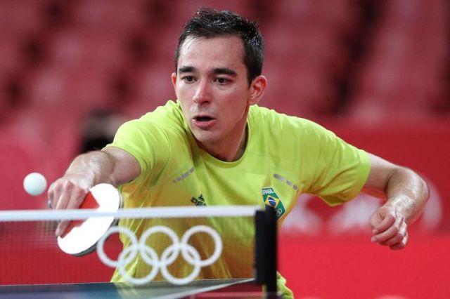 Hugo Calderano avança às quartas de final - Tóquio - tênis de mesa - Olimpíada