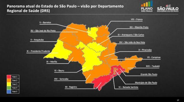 mapa da situação atual