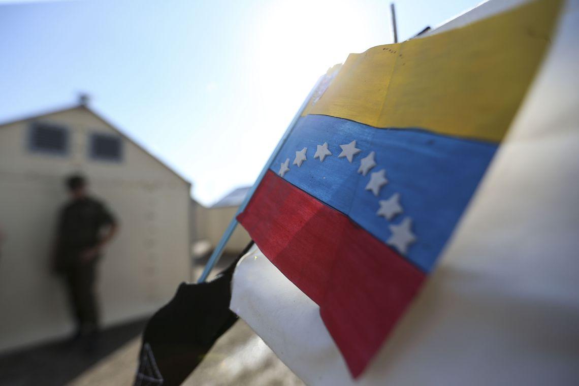 Abrigo Rondon 1, em Boa Vista, que recebeu cerca de 100 venezuelanos vindos da cidade de Pacaraima nos últimos dois dias.