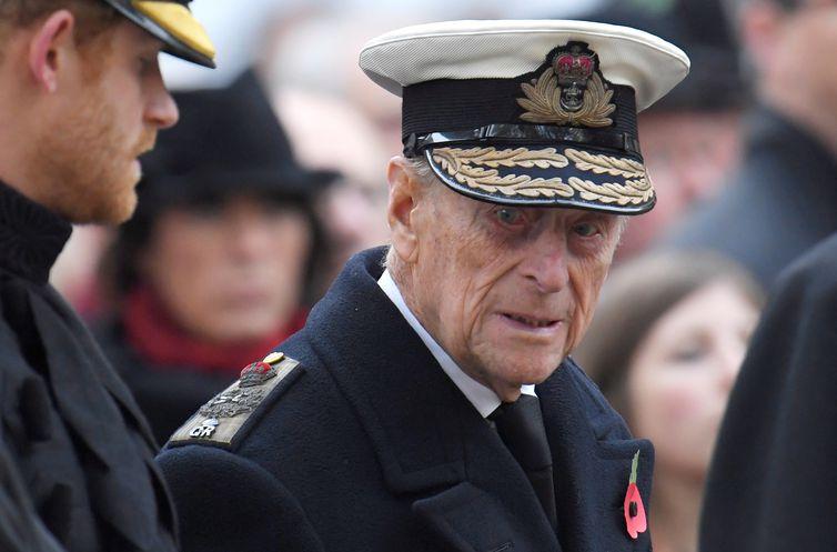 Príncipe Philip durante evento na Abadia de Westminster, em Londres