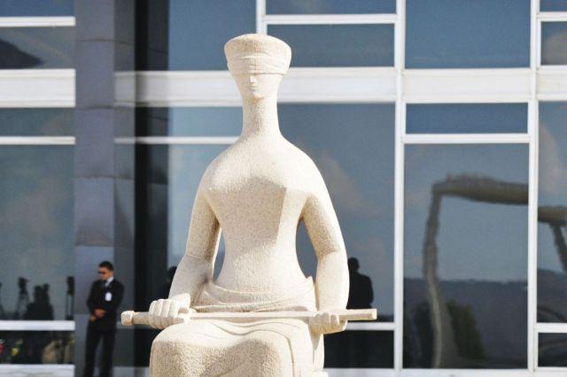 Brasília - Estátua da Justiça em frente ao Supremo Tribunal Federal STF (José Cruz/Agência Brasil)