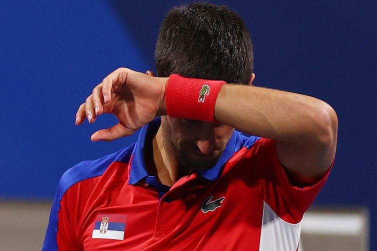 Djokovic no  Ariake Tennis Park - eliminado ao perder para Zverev - tênis