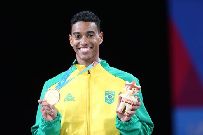 Ygor Coelho (Brasil), medalha de ouro no individual masculino do badminton nos Jogos Pan-Americanos Lima 2019.
